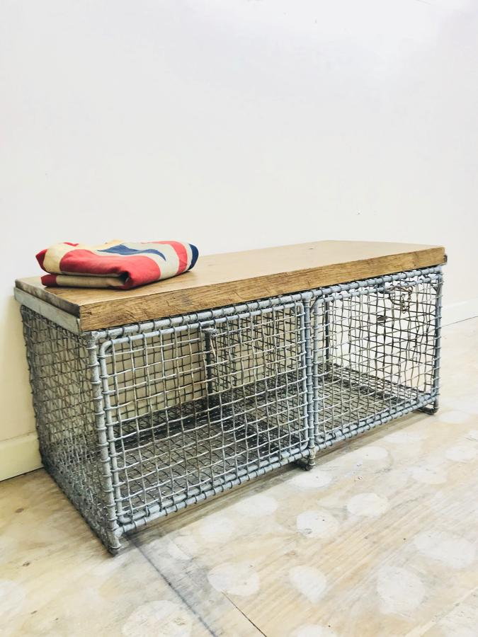 Rustic bench with storage