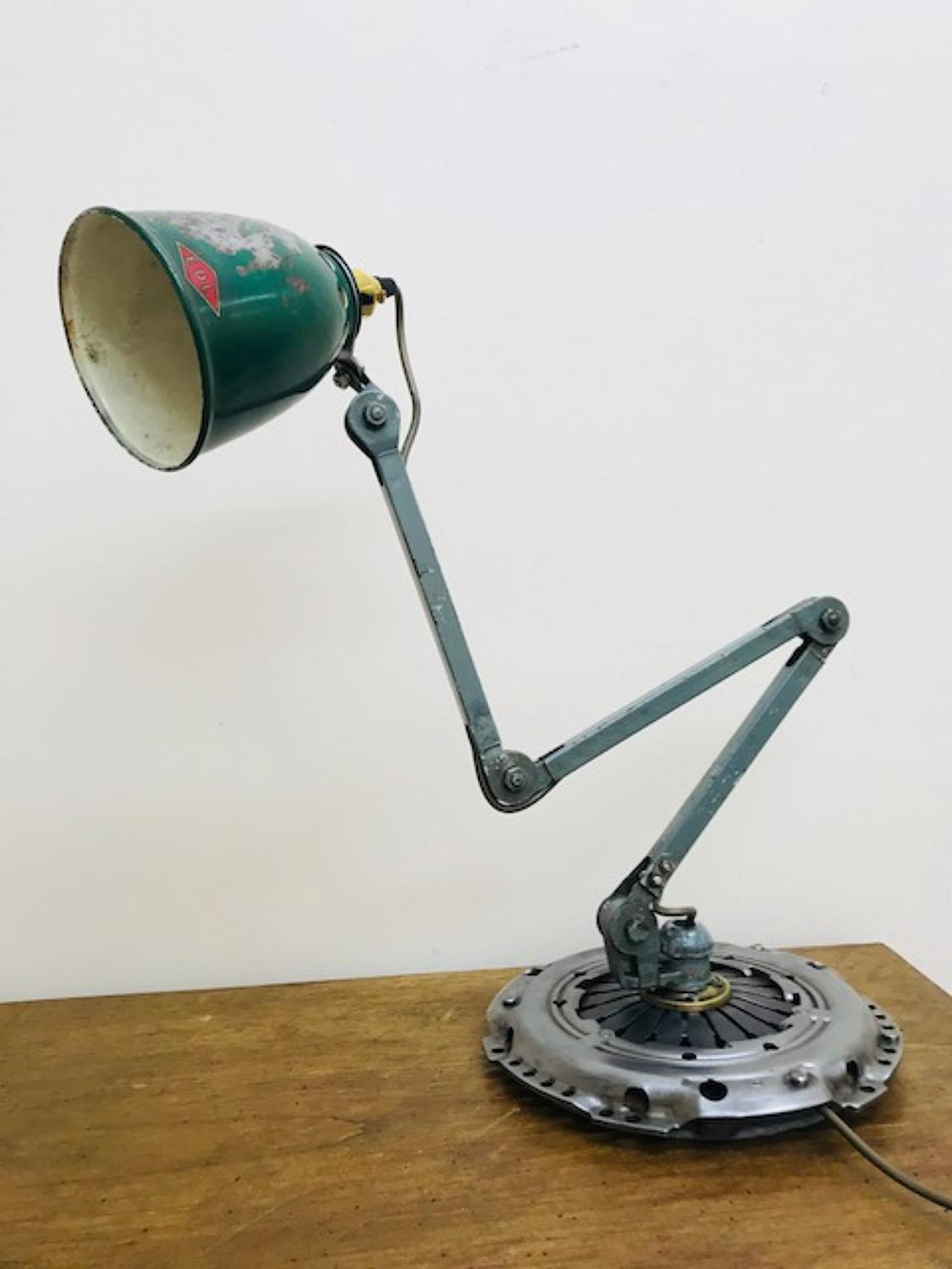 Vintage EDL machinist lamp