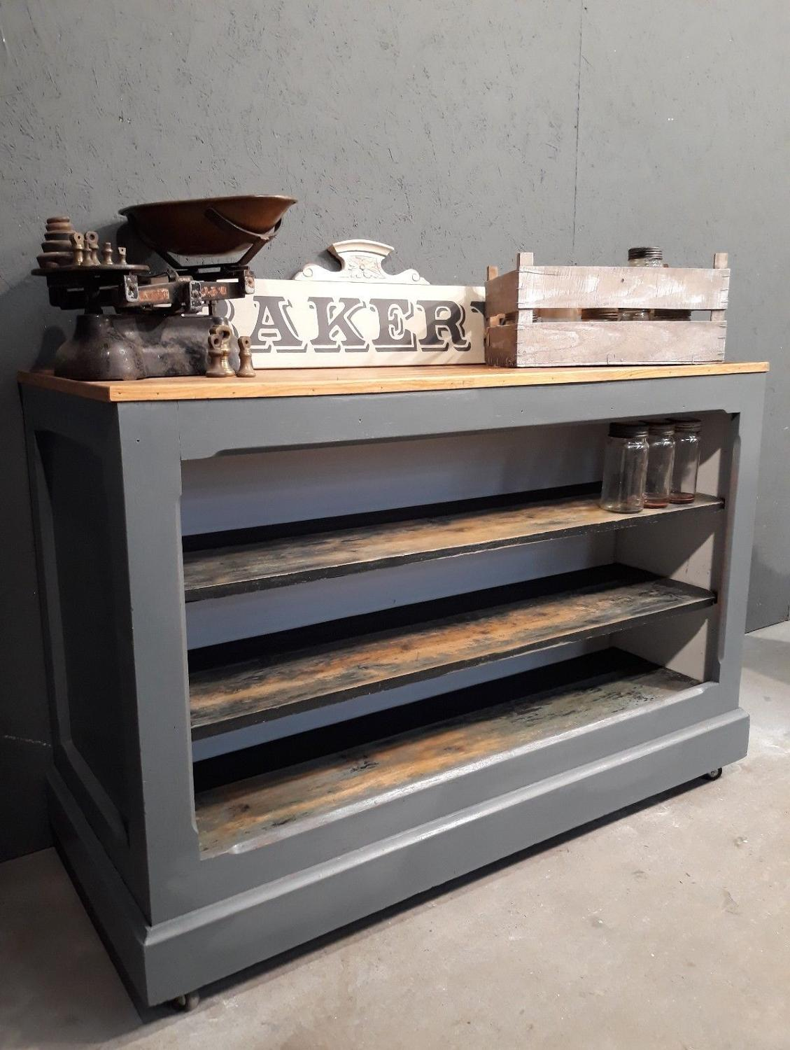 Reclaimed boulangerie counter