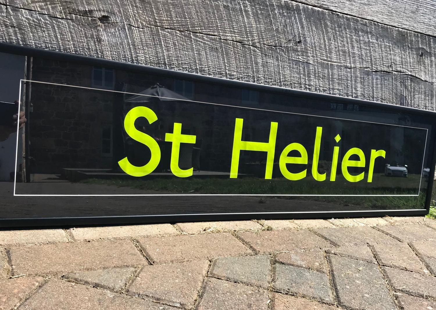 St Helier bus sign